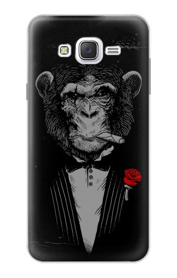 Printed Funny Monkey God Father Samsung Galaxy J7 Case