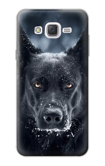 Printed German Shepherd Black Dog Samsung Galaxy J7 Case