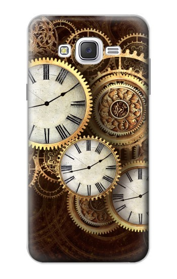 Printed Gold Clock Live Samsung Galaxy J7 Case