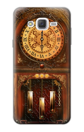 Printed Grandfather Clock Samsung Galaxy J7 Case