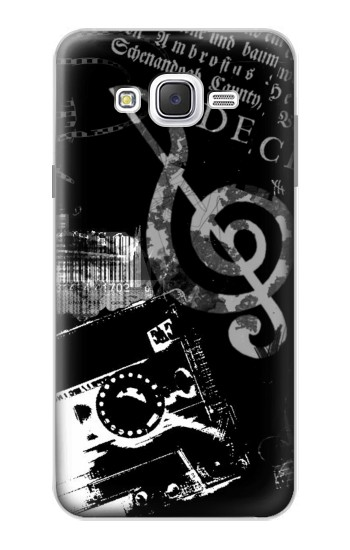 Printed Music Cassette Note Samsung Galaxy J7 Case