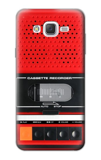 Printed Red Cassette Recorder Graphic Samsung Galaxy J7 Case