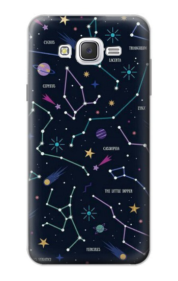Printed Star Map Zodiac Constellations Samsung Galaxy J7 Case