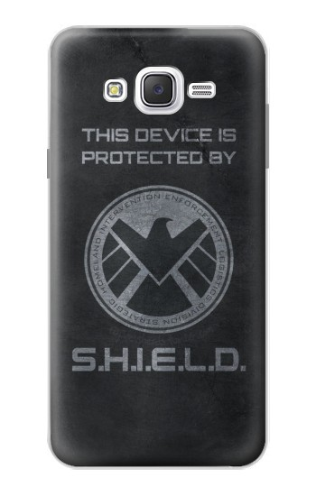 Printed This Device is Protected by Shield Samsung Galaxy J7 Case