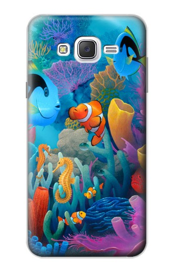 Printed Underwater World Cartoon Samsung Galaxy J7 Case