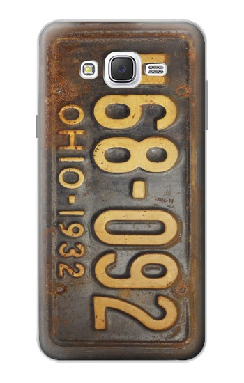 Printed Vintage Car License Plate Samsung Galaxy J7 Case
