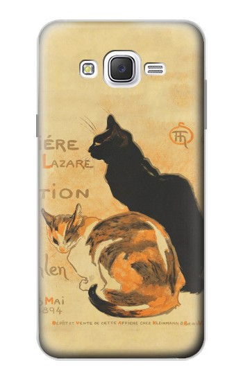Printed Vintage Cat Poster Samsung Galaxy J7 Case