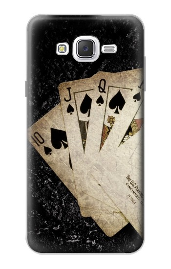 Printed Vintage Royal Straight Flush Cards Samsung Galaxy J7 Case