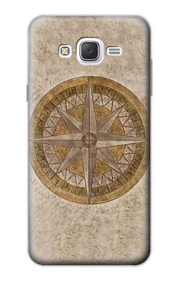 Printed Windrose Circle Stamp Samsung Galaxy J7 Case