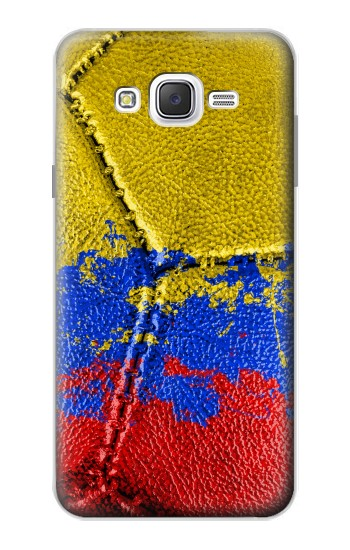 Printed Colombia Flag Vintage Football 2018 Samsung Galaxy J7 Case