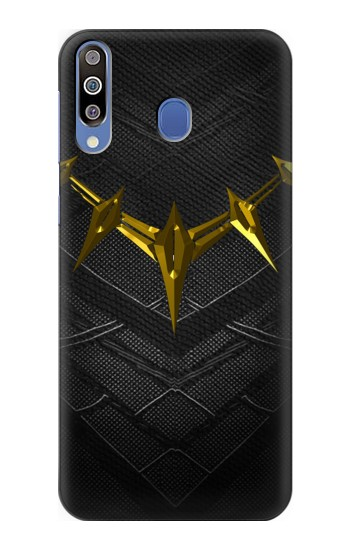 Printed Black Panther Inspired Costume Gold Necklace Samsung Galaxy M30 Case