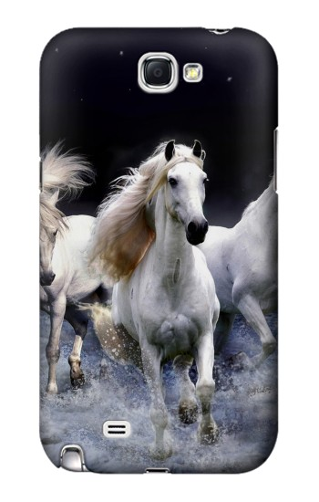 Printed White Horse Samsung Note 2 Case