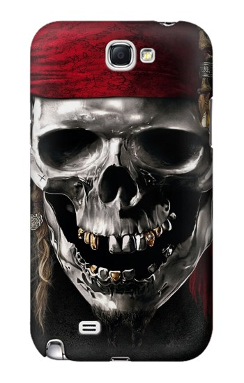 Printed Pirate Skull Samsung Note 2 Case