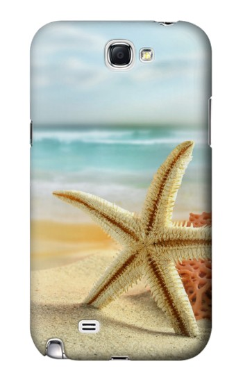 Printed Starfish on the Beach Samsung Note 2 Case