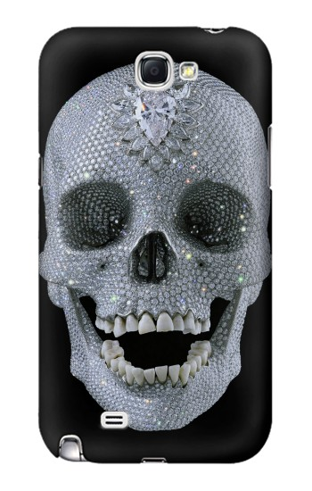 Printed Diamond Skull Samsung Note 2 Case