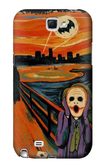 Printed Scream Joker Batman Samsung Note 2 Case
