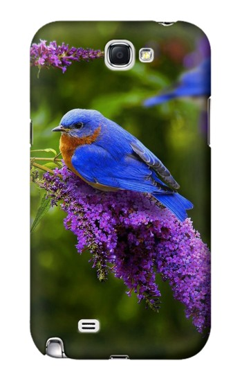 Printed Bluebird of Happiness Blue Bird Samsung Note 2 Case