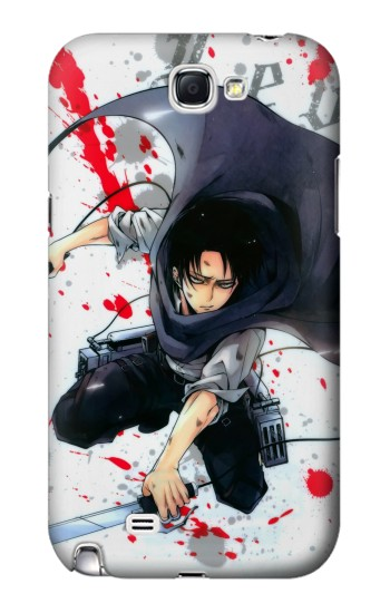 Printed Attack on Titan Rivaille Levi Samsung Note 2 Case