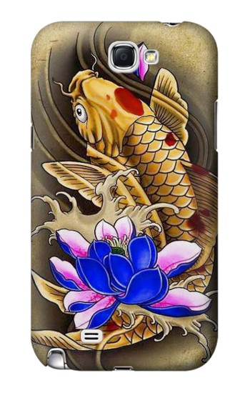 Printed Carp Koi Fish Japanese Tattoo Samsung Note 2 Case