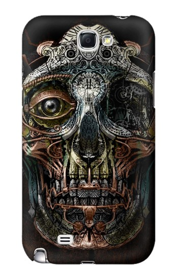 Printed Steampunk Skull Head Samsung Note 2 Case