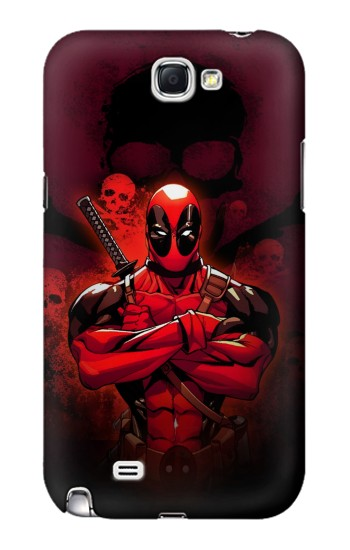 Printed Deadpool Skull Samsung Note 2 Case