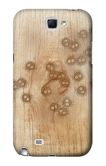 Printed Spirited Away Wood Art Graphic Printed Samsung Note 2 Case