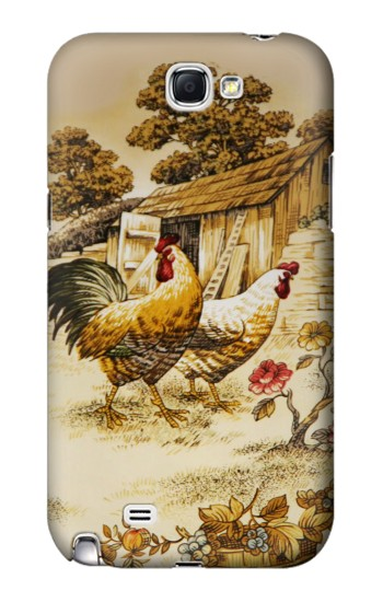 Printed French Country Chicken Samsung Note 2 Case