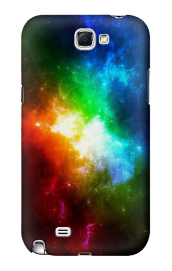 Printed Colorful Rainbow Space Galaxy Samsung Note 2 Case