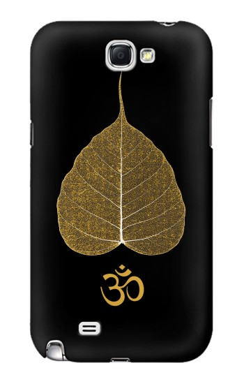 Printed Gold Leaf Buddhist Om Symbol Samsung Note 2 Case