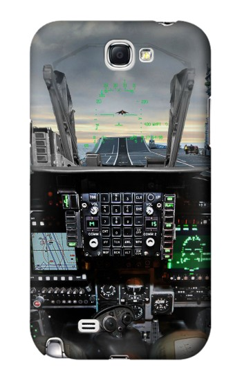 Printed Fighter Jet Aircraft Cockpit Samsung Note 2 Case