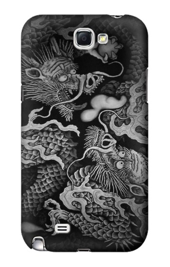 Printed Japan Painting Twin Dragons Samsung Note 2 Case