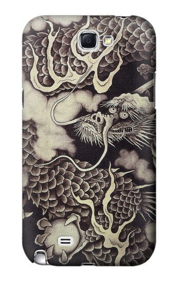 Printed Japan Painting Dragon Samsung Note 2 Case