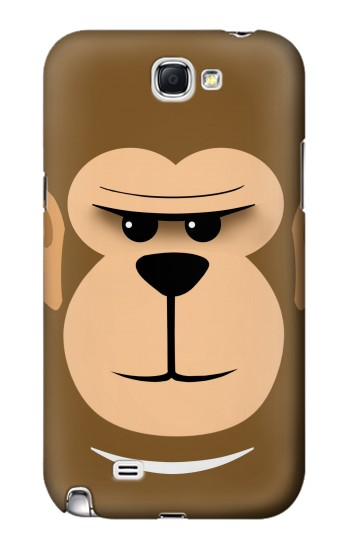 Printed Cute Monkey Cartoon Face Samsung Note 2 Case