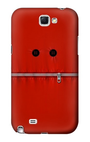 Printed Red Zipped Mount Funny Graphic Printed Samsung Note 2 Case