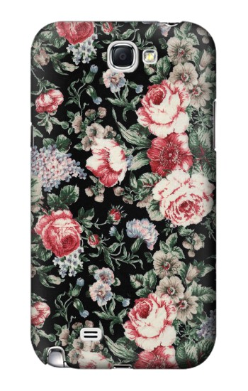 Printed Vintage Rose Pattern Samsung Note 2 Case