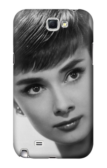 Printed Audrey Hepburn Short Hair Samsung Note 2 Case