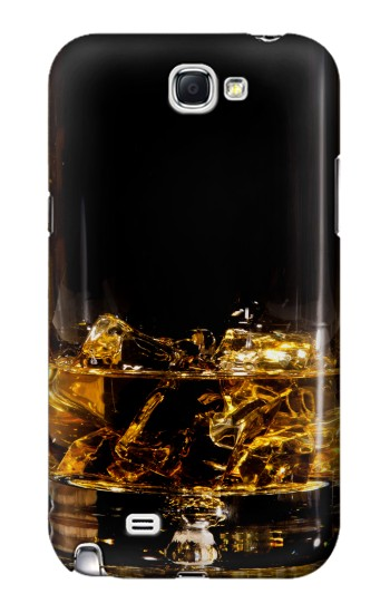Printed Ice Whiskey Glass Samsung Note 2 Case