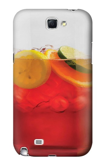 Printed Punch Cocktail Drink Fruit Glass Samsung Note 2 Case