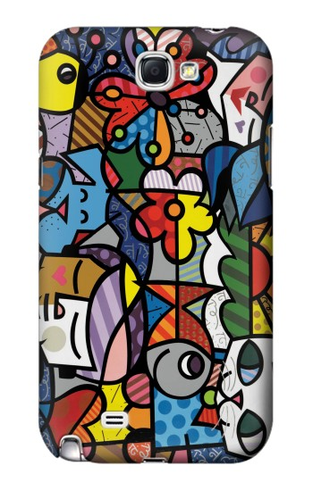 Printed Mosaic Colourful Samsung Note 2 Case