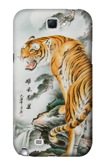 Printed Chinese Tiger Painting Tattoo Samsung Note 2 Case