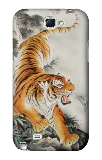 Printed Chinese Tiger Tattoo Painting Samsung Note 2 Case