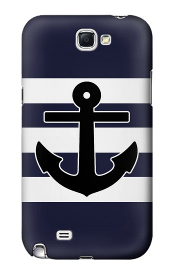 Printed Anchor Navy Samsung Note 2 Case