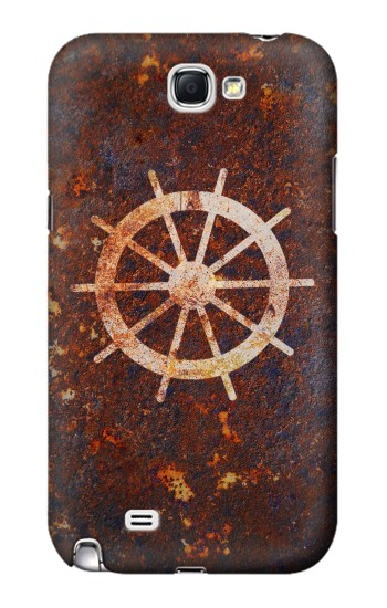 Printed Ship Wheel Rusty Texture Samsung Note 2 Case