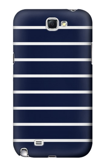 Printed Navy White Striped Samsung Note 2 Case