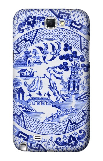 Printed Willow Pattern Illustration Samsung Note 2 Case