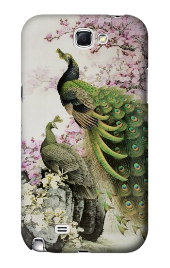 Printed Peacock Chinese Brush Painting Samsung Note 2 Case