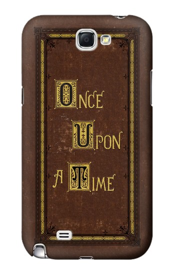 Printed Once Upon a Time Book Cover Samsung Note 2 Case
