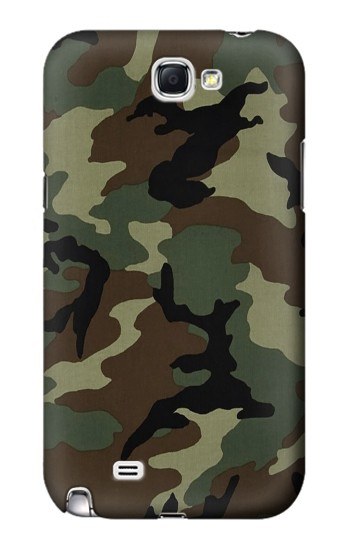 Printed Army Green Woodland Camo Samsung Note 2 Case