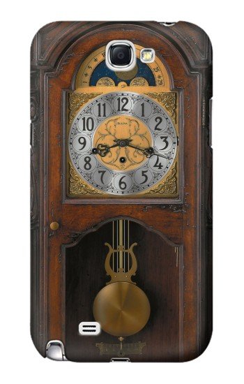 Printed Grandfather Clock Antique Wall Clock Samsung Note 2 Case