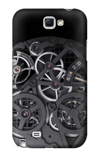 Printed Inside Watch Black Samsung Note 2 Case